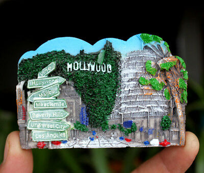 Hollywood United States Tourist Travel Souvenir 3D Resin Fridge Magnet Craft