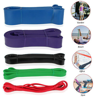 SET POWER Heavy Duty RESISTANCE BAND Gym Yoga LOOP Exercise Fitness Workout Lead