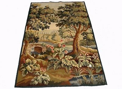 A Beautiful Antique Tapestry with Castle, Bridge and Trees, 2 of 4