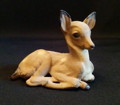 Vintage Spotted Fawn Deer Figurine Made In Japan