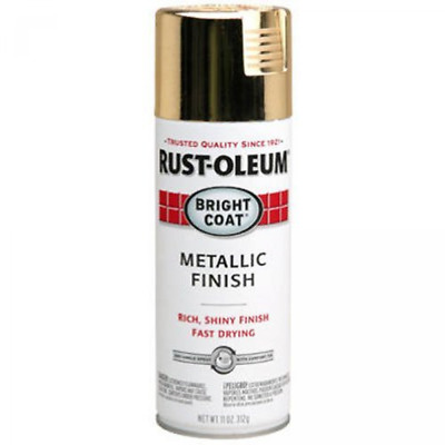 Rust-Oleum 7710830 Bright Coat Metallic Color Spray, GOLD, 11 Ounce, Fast Drying