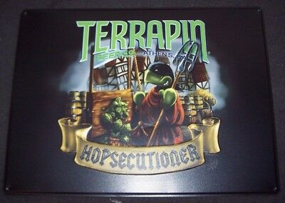 18x24 TERRAPIN BEER CO Hopsecutioner Logo METAL SIGN craft beer brewery brewing