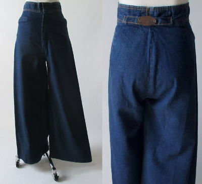 Vintage 70's Wide Leg Levi Levis High Waist Indigo Denim Jeans Pants 26