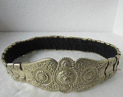 Early  antique  metal  belt buckle,  folk art,  silver color,  30""