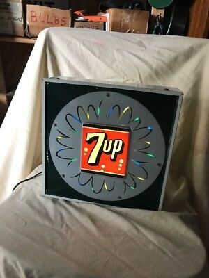 Vintage 1950's 7up Motion Light-Up Sign Everbrite