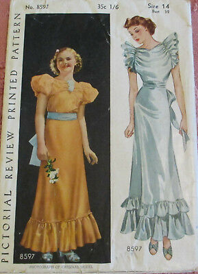Pictorial Review Printed Pattern  Antique Sewing Pre.1930  No.8597