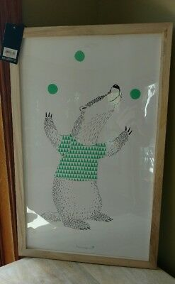 Bloomingville badger juggling Framed Art