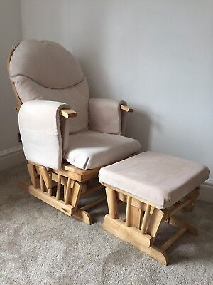 Habebe Glider Chair With Brake And Stool