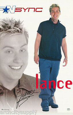 Lot Of 2 Posters:music: Lance Bass - N Sync  - Dark Blue Polo   #7567    Lp32 K