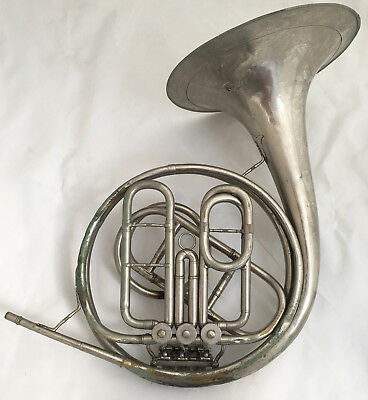 Antique E. PAULUS Berlin German French Horn - RARE