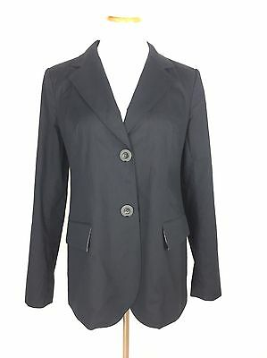 A PEA IN THE POD $148 Stretch Lined Tailored Suiting Maternity Blazer Top Size M