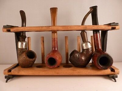 SUPERB job lot of 4 X vintage estate pipes  including K&P PETERSON & BEWLAY etc