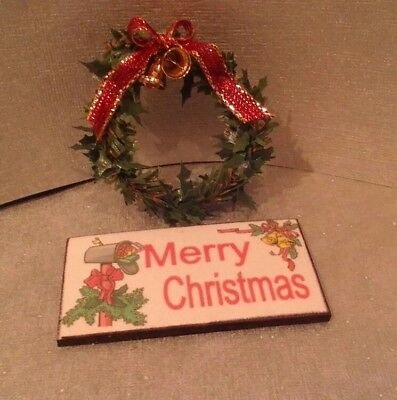 Dollhouse Miniature Christmas Door Mat ~ Merry Christmas  RND287