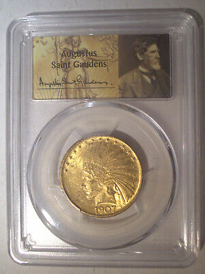 1907 NO Motto FIRST Year $10 Dollar GOLD * PCGS MS61 * INDIAN Head EAGLE $1,320+