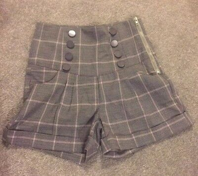 Brand New Bettie Page Checked Shorts Size xs