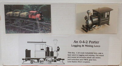 Sm32 Craftsman Neng Logging/mining 2 Foot 0-4-2 Porter Loco Kit-New Unstarted
