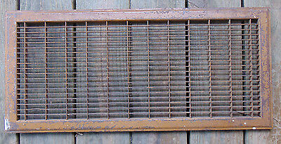 "Vintage Antique Salvage Floor Register Heat Vent Heavy Duty grate 12"" x 26"""