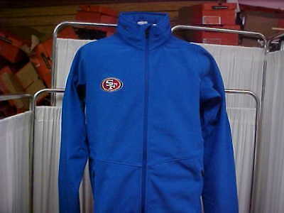 07bc4d9a SAN FRANCISCO 49ERS Blue Nike Therma-Fit Sideline Jacket Worn By ...