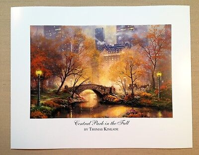 """Thomas Kinkade Open Edition print """"Central Park in the Fall"""""""