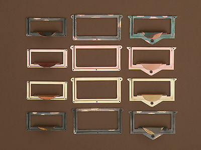 Globe Wernicke/macey Commercial Stack File Drawer Hardware! Japaning/bronze Also