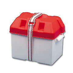 Battery Box Small Red 190x270x200H