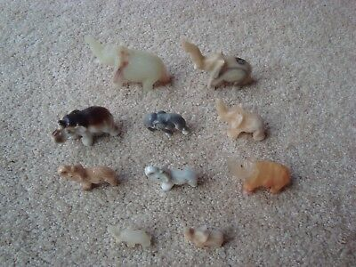 Lot Of 10 Small Elephant Figurines