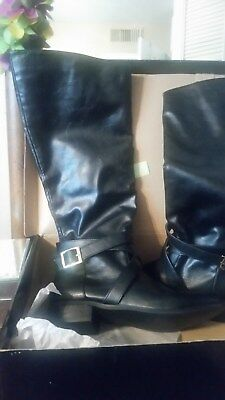 Womens Black Riding Boots Women's Size 8 New in Box