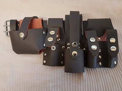 Brown Leather Scaffolding ToolSet Belt 5IN1 Safety Loops Top Quality UK Sales