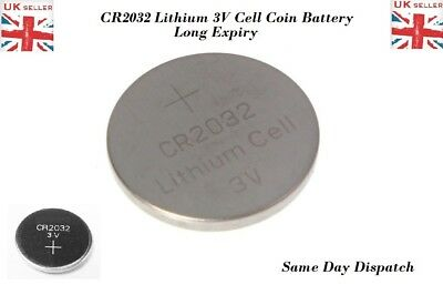 5X CR2032 Battery Lithium Coin Cell 3V Battery Brand New UK Seller Long Life Exp