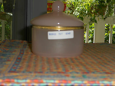 Pink Opaline Powder/trinket  Jar- Beautiful And Htf !