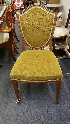 4 x arts and crafts solid oak chairs