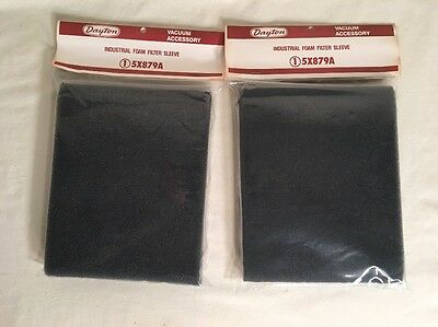 Lot Of 2 Dayton 5X879A Foam Filter Vacuum Sleeve  *new In Factory Bag*