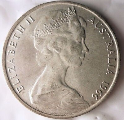 1966 AUSTRALIA 50 CENTS - Strong High Value Silver Coin - Lot #915