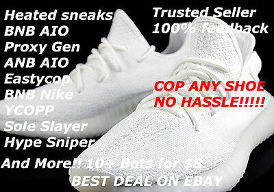 Yeezy Bot Ultimate Package 10 Bots + More! ANB Aio, Heated Sneaks CAPTCHA BYPASS