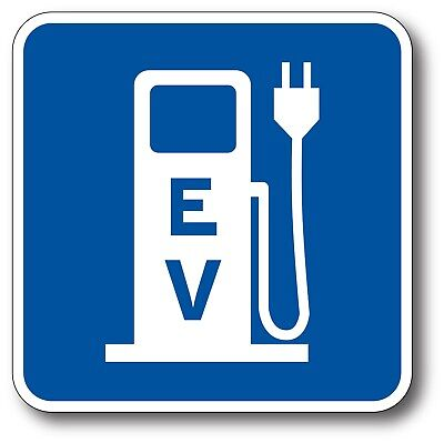 EV Charging Electric Car Vehicle EV Bumper Sticker Decal LEAF Tesla BMW i3