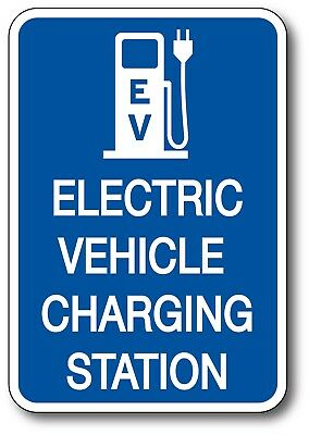 "EV Charging V2 Electric Car Vehicle EV Sticker Decal LEAF Tesla BMW i3 4"" x 6"""