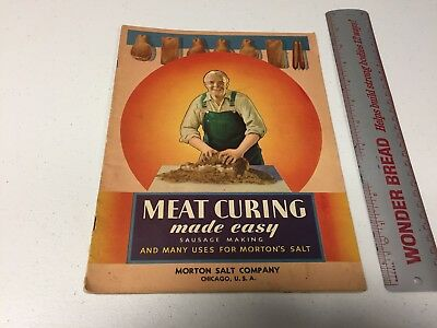 Meat Curing Booklet 1934 Morton Salt Company Chicago Illinois