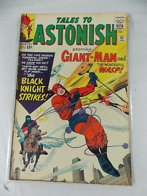 TALES TO ASTONISH # 52  FN-  1963  Giant Man & Wasp vs The Black Knight