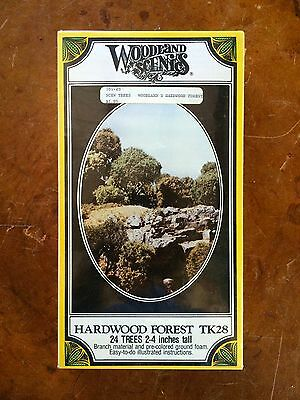 "Woodland Scenics Hardfood Forest Tk28 24 Trees 2-4 Inches Tall 2""-4"" New Sealed"