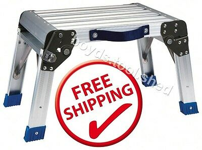 Step Stool & Working Platform 350 LBS Capacity Foldable Anodized Aluminum