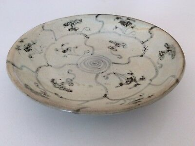 antique Chinese shipwreck painted plate, porcelain, China, Asian art