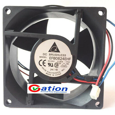 For DELTA EFB0824EHF Inverter cooling fan DC24V 0.35A 80*80*32mm 3pin
