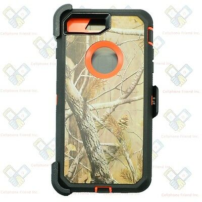 iPhone 8 Plus Defender Case Cover ORG S TREE w/[Belt Clip Fits Otterbox]&Screen