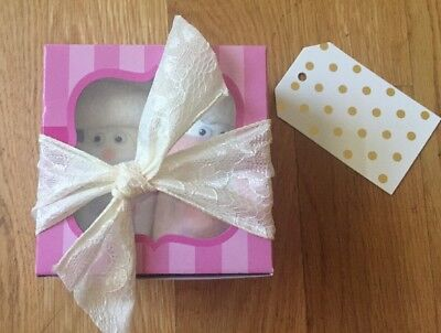 "Baby Shower Gift ""Diaper Babies"" (2) Pink And White"