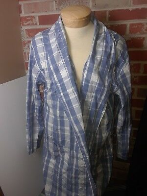 Polo Ralph Lauren Light Blue Plaid Bath Robe Adult Size S-M
