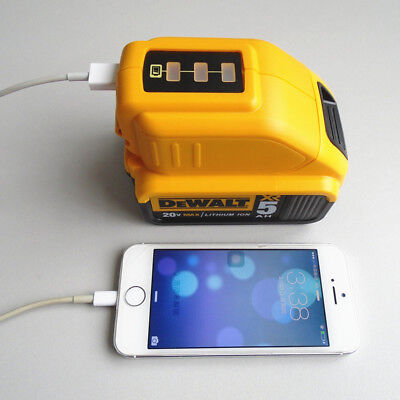 NEW for DEWALT DCB090 USB CHARGING BATTERY ADAPTER POWER Charger Durable UK