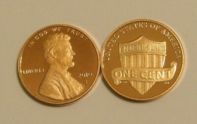 2010 Gem Proof Lincoln Shield Cent Deep Cameo Penny