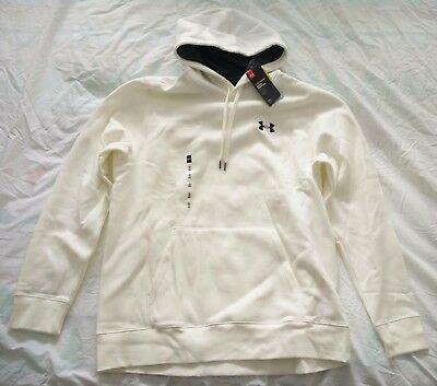 Men's Under Armour Ivory(white) Storm Rival Hoodie size XL
