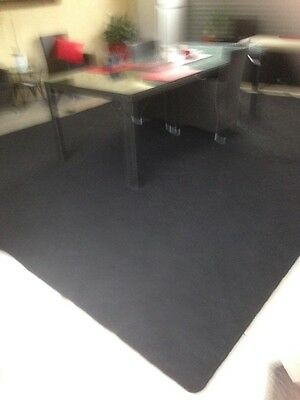 Charcoal Carpet with Overlocked Edges