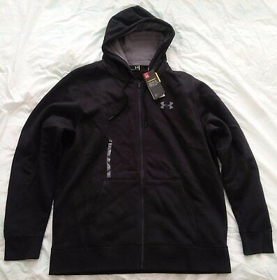 Men's Under Armour Black Storm Rival Full Zip Hoodie size XL